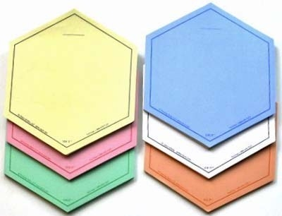 SIX-COLOR Set of VIS-IT™ Hexagons Set