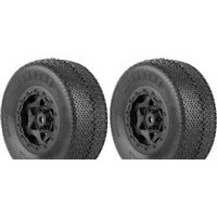 AKA Wishbone SC Tires-Soft, SC10 4x4 On Black Rims (2)