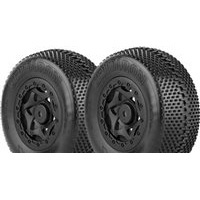 AKA Gridiron SC Clay Tires Mounted On SC10 4x4 Black Rims (2)