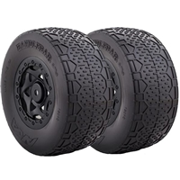 AKA Handlebar SC Clay Tires On Black Rims For SC10 4x4 (2)