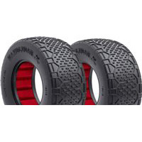 AKA Handlebar Std SC Clay Tires With Red Inserts (2)