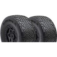 AKA Handlebar Std SC Clay Tires On SC10 4x4 Black Rims (2)