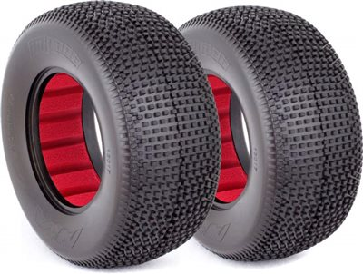 AKA Impact SC Wide Soft Tires With Red Inserts (2)