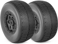AKA Impact SC Wide Super Soft Tires On Black Losi Rims(2)