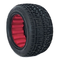 AKA 1/10 Buggy Rear Soft Rebar Tires with Red Inserts (2)