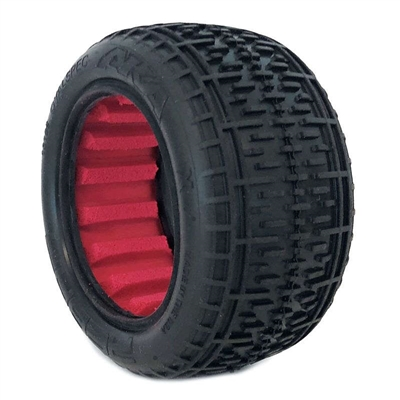 AKA 1/10 Buggy Rear Super Soft Rebar Tires with Red Inserts (2)