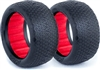 AKA 1/10 Buggy Evo Rear Typo Tires, Red Inserts, Soft (2)