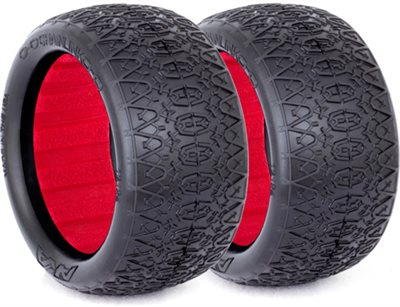 AKA 1/10 Buggy Evo Chain Link Rear Tires, Clay (2)