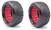 AKA 1/10 Buggy 2.2 Rear Clay Scribble Tires with Red Inserts (2)