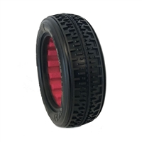 AKA 1/10 Buggy 2wd Front Rebar Tires, Super Soft with Red Inserts(2)