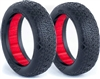 AKA 1/10 Buggy Evo Typo 2wd Front Tires, Red Inserts, Soft (2)