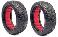 AKA 1/10 Buggy 2.2 Front 2WD Clay Scribble Tires with Red Inserts (2)