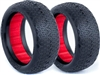 AKA 1/10 Evo 4wd Front Typo Tires, Red Inserts, Soft (2)