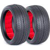 AKA 1/10 Buggy Evo Pinstripe 4wd Front Tires, Clay (2)