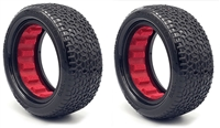 AKA 1/10 Buggy 2.2 Front 4WD Clay Scribble Tires with Red Inserts (2)