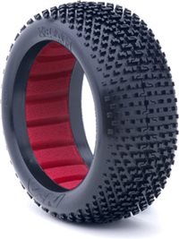AKA I-Beam 1/8 Buggy Soft Tires With Red Inserts (2)