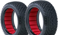 AKA City Block 1/8 Buggy Soft Tires With Red Inserts (2)