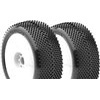 AKA Gridiron II 1/8 Buggy Soft Tires On White Evo Rims (2)