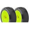 AKA Gridiron II 1/8 Buggy Soft Tires On Yellow Evo Rims (2)