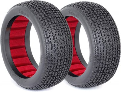 AKA Catapult 1/8 Buggy Soft Tires With Red Inserts (2)