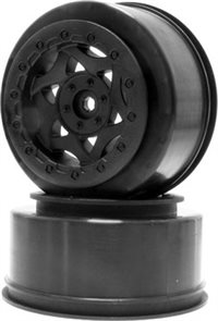 AKA Racing Short Course Cyclone Rims For Slash 4x4/Blitz, Black (2)
