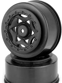 AKA Racing Losi Ten-SCTE Cyclone SC Rims, Black (2)