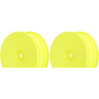 AKA TLR 22 Hexlite Buggy Front Rims, Yellow (2)