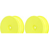 AKA B4.1/RB5 Hexlite 2wd Buggy Front Rims, Yellow (2)