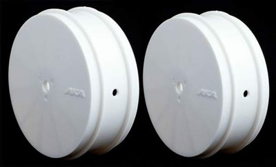 AKA 1/10 Buggy Evo Front Rims, White (TLR) 1 Pair