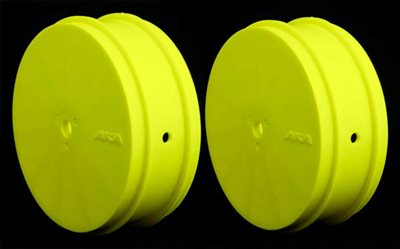 AKA 1/10 Buggy Evo Front Rims, Yellow (TLR) 1 Pair