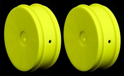 AKA 1/10 Buggy Evo Front Rims, Yellow (AE, Kyo) 1 Pair