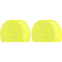 AKA Kyosho ZX5 Hexlite 4wd Buggy Front Rims, Yellow (2)