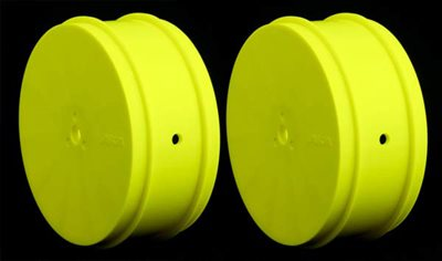 AKA 1/10 Buggy Evo 4wd Front Rims, Yellow (AE) 1 Pair