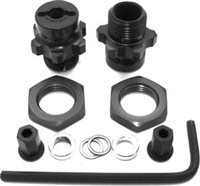 AKA Slash 1/8th Rear Wheel Adapter Set for 17mm Hex, Aluminum (2)