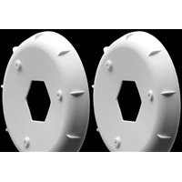 AKA 1/10th Hexlite 2wd/4wd Buggy Rear Rim Stiffeners, White (2)