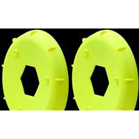 AKA 1/10th Hexlite 2wd/4wd Buggy Rear Rim Stiffeners-Yellow (2)