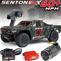 Arrma Senton 2018 BLX 6s 4wd 1/10th RTR Short Course Truck with black/green body