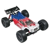 Arrma Talion 6S BLX 1/8th RTR Truggy, red / blue body