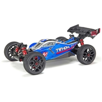 Arrma Typhon 2018 6S BLX 1/8th 4wd RTR Buggy with blue/silver body