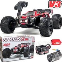 Arrma 1/8th Kraton 6S BLX Brushless 4wd Speed Monster RTR Truck with red body
