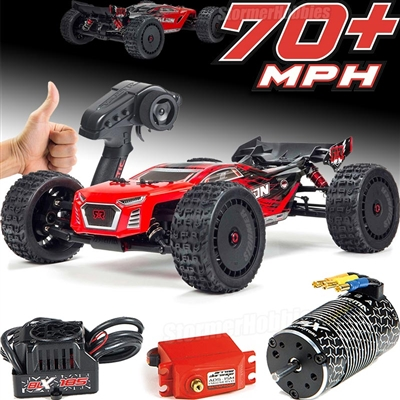 Arrma Talion 6S BLX 1/8th RTR Truggy, red / black body