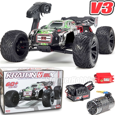 Arrma 1/8th Kraton 6S BLX Brushless 4wd Speed Monster RTR Truck with green body