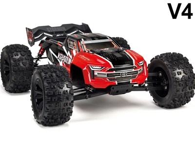 Arrma 1/8th Kraton 6S BLX 4wd Brushless Speed Monster Truck RTR with red body