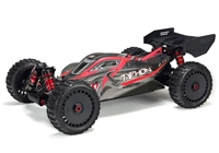Arrma 1/8th Typhon 6S BLX 4wd Brushless Buggy RTR with red/grey body