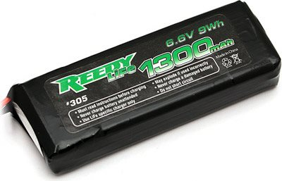 Reedy 1300mAh 2s(6.6v) Life Receiver Battery Pack