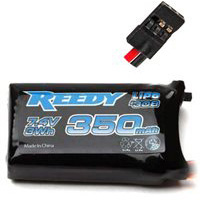 Reedy 350mAh Lipo Receiver Battery 2s (7.4v) For 1s Powered Cars