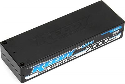 Reedy 7000mAh 2s 65c Lipo Battery Pack (7.4v), 5mm Bullets