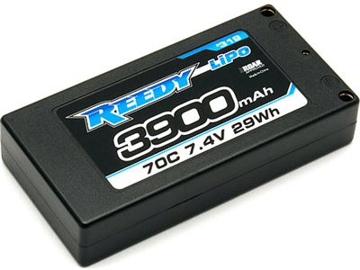 Reedy 3900mAh 70c 7.4v 2s Lp Shorty Lipo Battery, 4mm Bullets