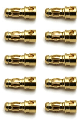 Reedy 3.5mm Gold Bullet Connectors, 10 Male