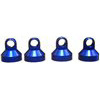 Associated Factory Team Shock Caps, Blue Aluminum (4)
